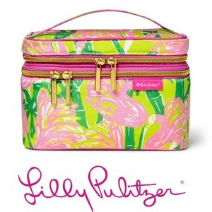 Lilly Pulitzer make up train case NWT